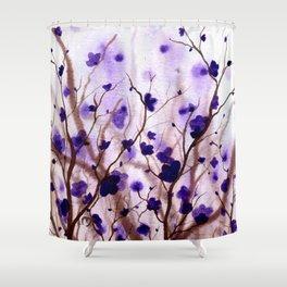 In the Purple Feild Shower Curtain