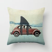 vw Throw Pillows featuring VW soup by Vin Zzep