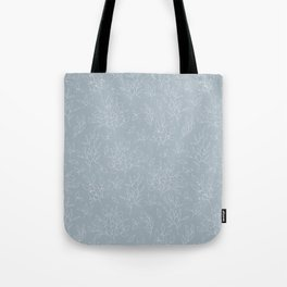 Blush blue white hand painted modern floral leaves pattern Tote Bag