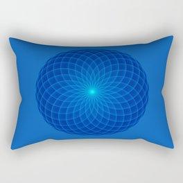 Blue and round Graphic Rectangular Pillow