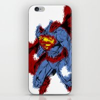 man of steel iPhone & iPod Skins featuring Man Of Steel by alsalat
