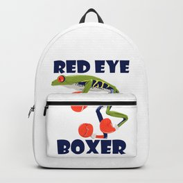 Funny Red Eye Boxer - Red Eye Tree Frog With Boxing Gloves Cartoon Style Apparel Backpack