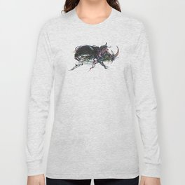 Beetle 1. Color & Black on white background Long Sleeve T-shirt