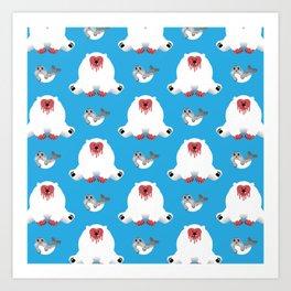 What Do Polar Bears Eat? Art Print