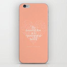 Secret Of Love iPhone Skin