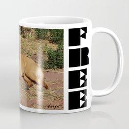 """Born Free"" from the photo series, ""My dog, PLaY-DoH"" Coffee Mug"