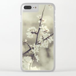 crossed blossoms Clear iPhone Case