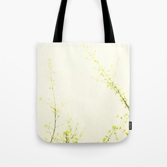 Her Thoughts Were Like Flowers Floating to the Sky Tote Bag