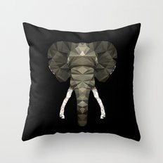 Polygon Heroes - The Elephant Throw Pillow
