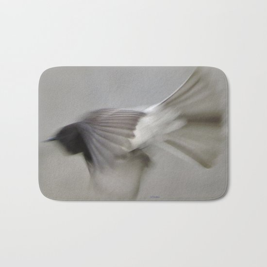 TEXTURES: Flycatcher on the Fly Bath Mat