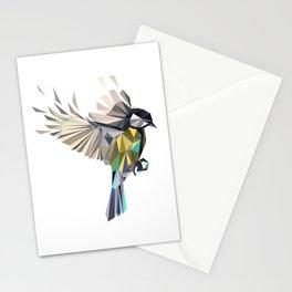 Flying Songbird Cyanistes Caeruleus Blue Tit Bird Stationery Cards