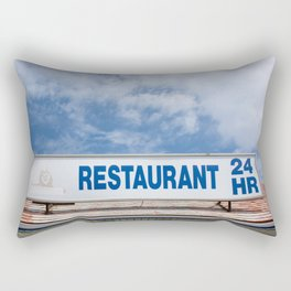 Open 24 Hours. Rectangular Pillow