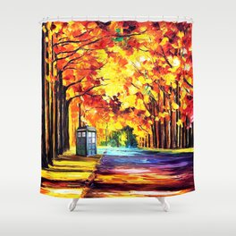 Tardis Stay Alone Shower Curtain