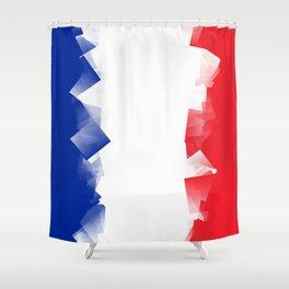 France Flag Cubic Shower Curtain