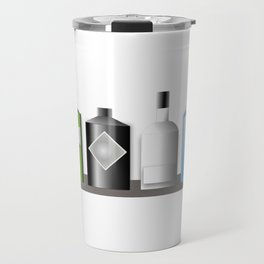 Gin Bottles Travel Mug