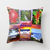hawaii Throw Pillows featuring Hawaii by Art-Motiva