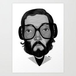 Julio Cortazar Art Print
