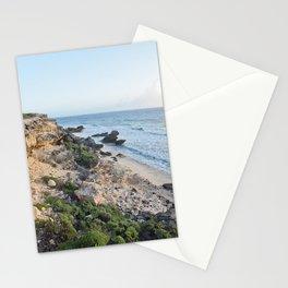 Mexico Sunrise Island Isla Mujeres Beach Cliffs Caribbean Natural Landscape Seascape Ocean Nautical Stationery Cards