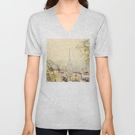 from atop the hill ... Unisex V-Neck