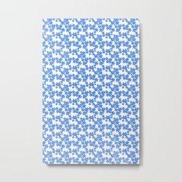 Simply Blue Metal Print