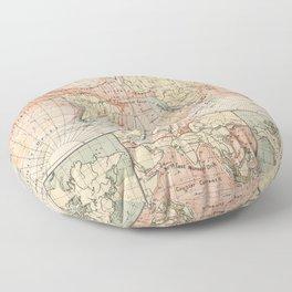 Vintage World Ocean Currents Map (1905) Floor Pillow