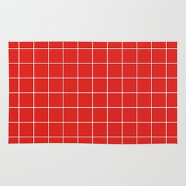 Cherry Grid Rug