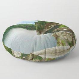 Majestic Mohonk Lake Floor Pillow