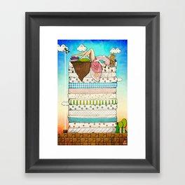 Princess Peach and the Pea Framed Art Print