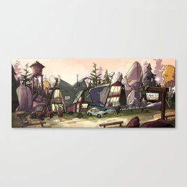 Big Bear Cabins Canvas Print