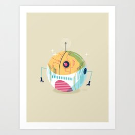 :::Mini Robot-Sfera2::: Art Print