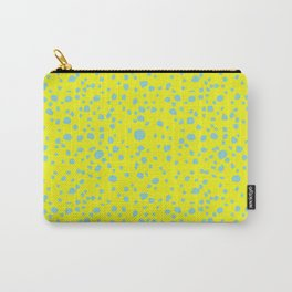 Postmodern Granite Terrazzo Large Scale in Canary Yellow + Mint Carry-All Pouch