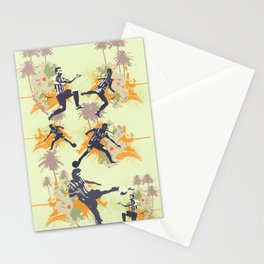 Vintage flower football Stationery Cards