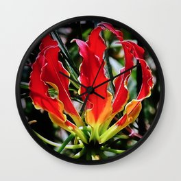 Flame Lily Wall Clock