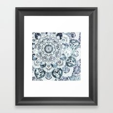 MOON SMILE MANDALA Framed Art Print