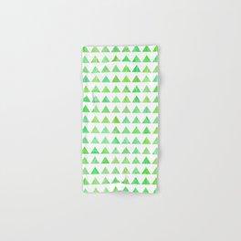 evergreen geometric pattern Hand & Bath Towel
