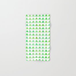 evergreen geometric pattern Hand & Bath Towel