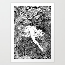Rest your weary soul on me Art Print