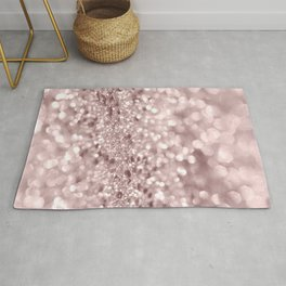Sparkling Rose Gold Blush Glitter #1 #shiny #decor #art #society6 Rug