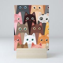 Cats Pattern Mini Art Print