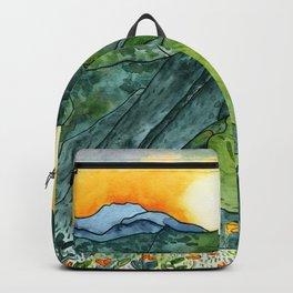 Watercolor Mountain Range Backpack
