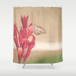 """""""Gulf Fritillary 2"""" by Murray Bolesta! Shower Curtain"""