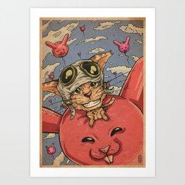 CNY Rabbit Art Print