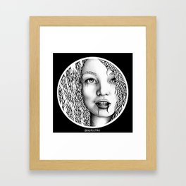 Circle portrait Framed Art Print