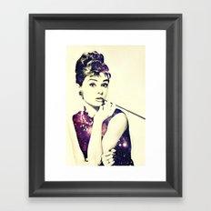 Cosmic Audrey Framed Art Print