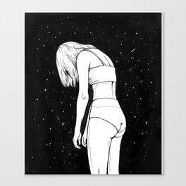 In a slump Canvas Print