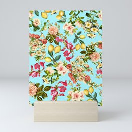 Lemon and Leaf Pattern IV Mini Art Print