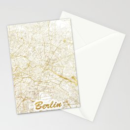 Berlin Map Gold Stationery Cards