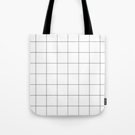 Graph Paper (Grey & White Pattern) Tote Bag