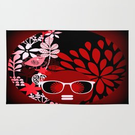 Afro Diva : Sophisticated Lady Red Rug