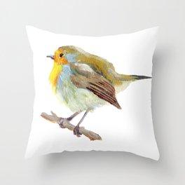 Robin The Bird Throw Pillow